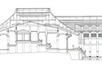 吉備津神社の本殿・拝殿2