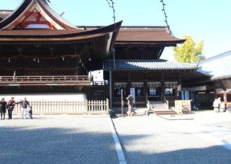 吉備津神社の拝殿