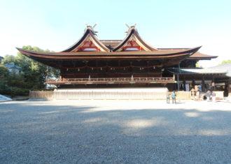 吉備津神社の本殿・拝殿1