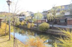 倉敷の街並みと阿智神社