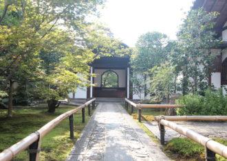 京都 大徳寺興臨院のアプローチの演出