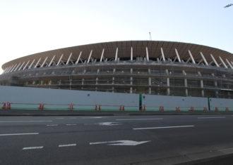 新国立競技場の建設現場の現在