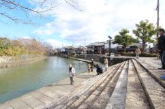 近江八幡 正月の八幡堀風景