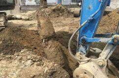 地中埋設の杭抜き工事のてんまつ
