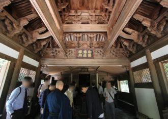 永保寺の観音堂と開山堂の内部空間