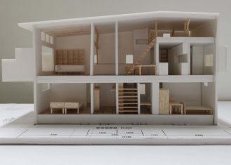 T字路の家 模型写真を撮影しました