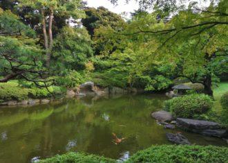 東京都庭園美術館の日本庭園