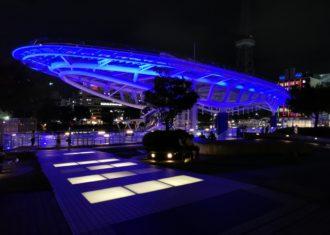 栄オアシス21の夜景