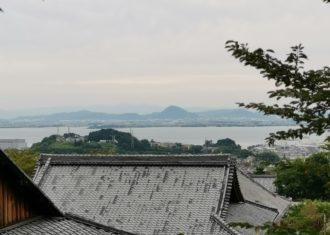 西教寺から見た琵琶湖の風景