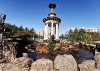 鶴舞公園 噴水回りの修景計画がユニーク